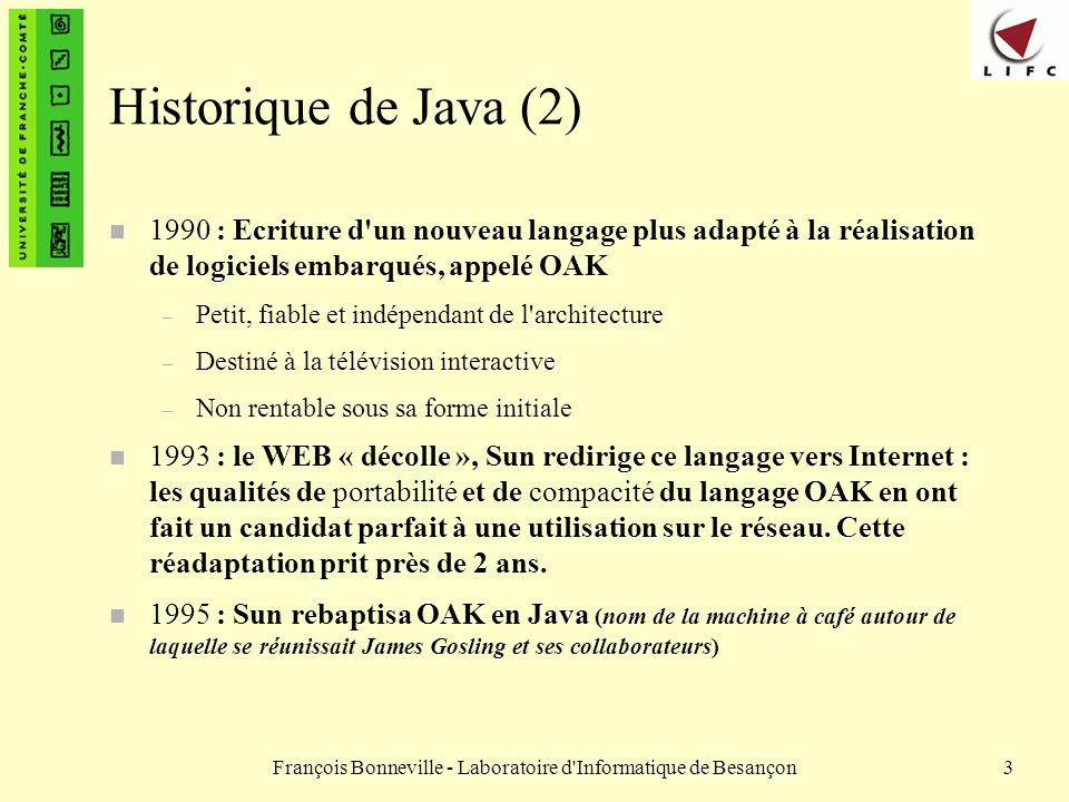 François Bonneville - Laboratoire d Informatique de Besançon