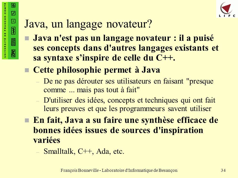 Java, un langage novateur