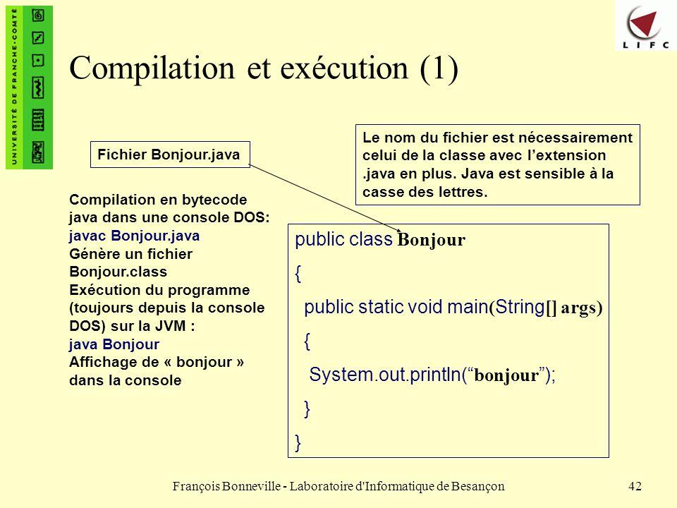 Compilation et exécution (1)