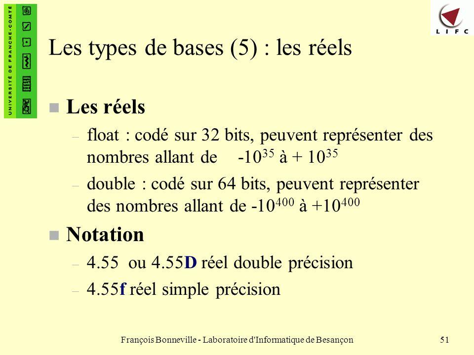 Les types de bases (5) : les réels