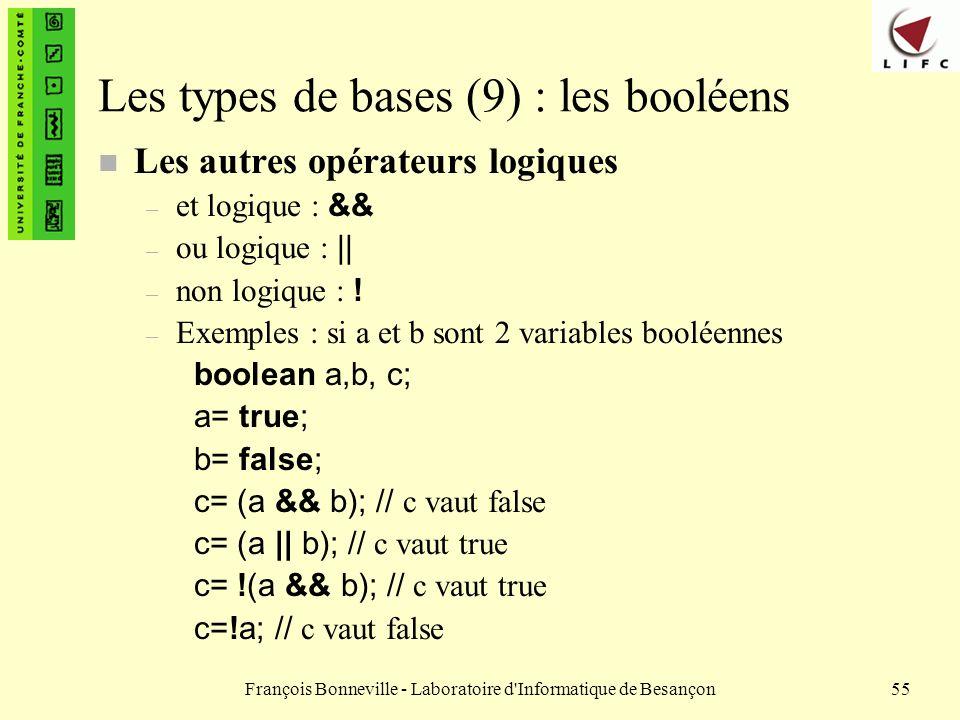 Les types de bases (9) : les booléens