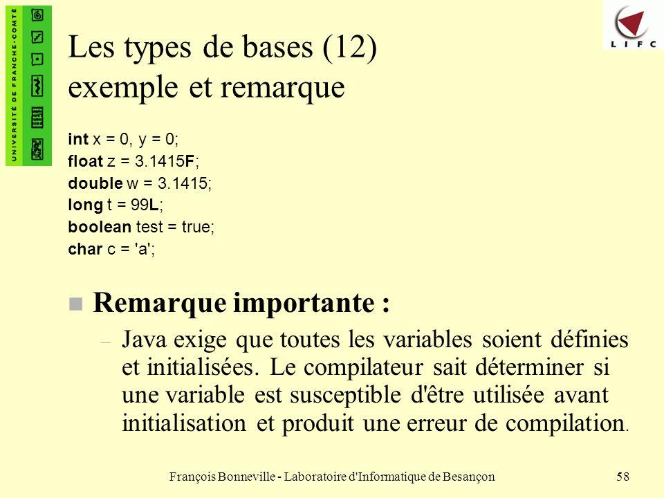Les types de bases (12) exemple et remarque