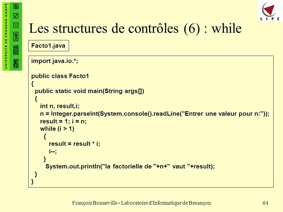 Les structures de contrôles (6) : while