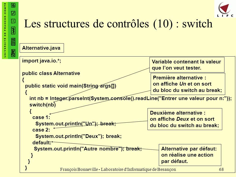 Les structures de contrôles (10) : switch
