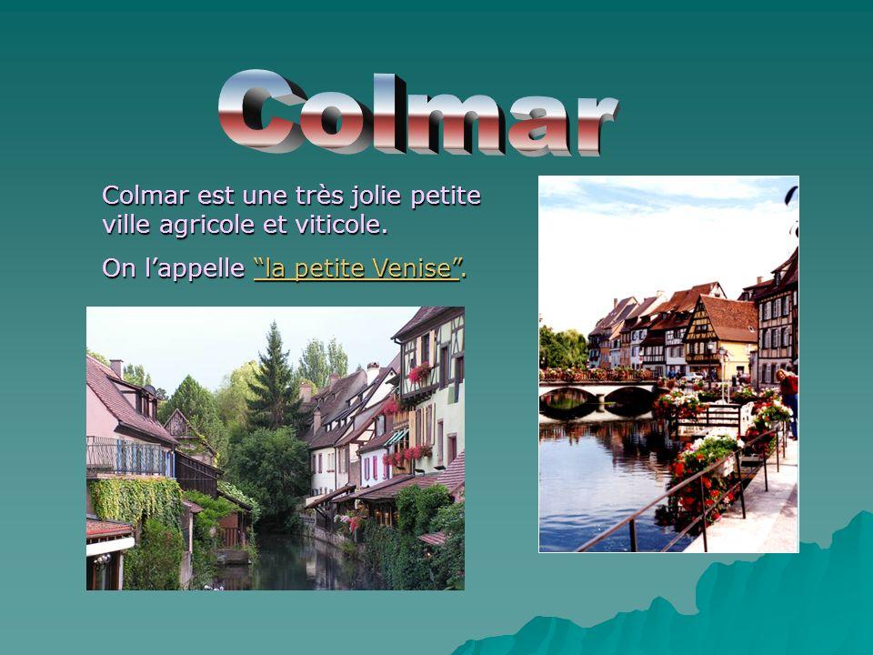 Colmar Colmar est une très jolie petite ville agricole et viticole.