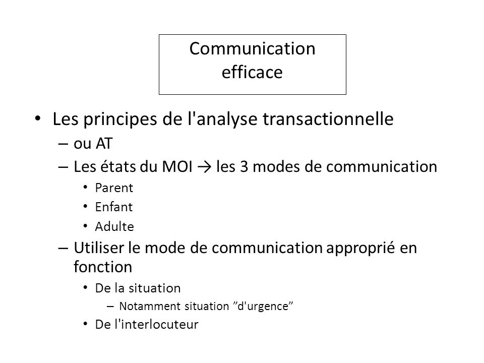 Communication efficace