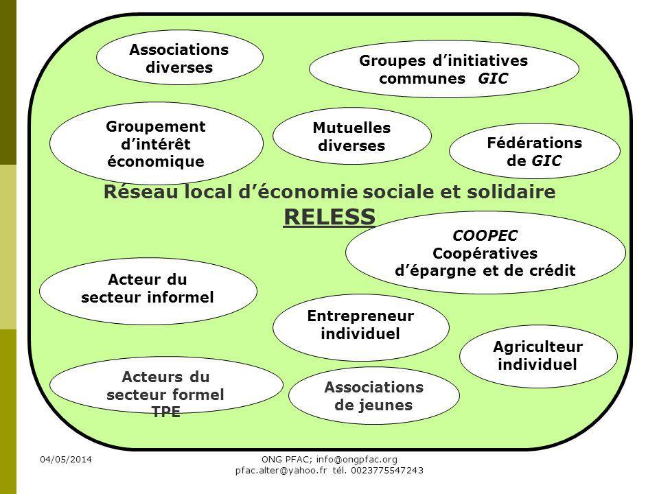 RELESS Réseau local d'économie sociale et solidaire
