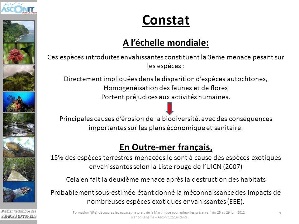 Constat A l'échelle mondiale: En Outre-mer français,