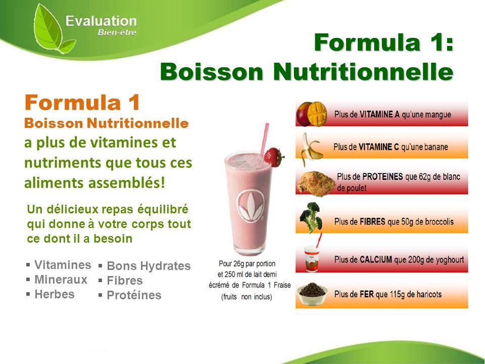 Formula 1: Boisson Nutritionnelle