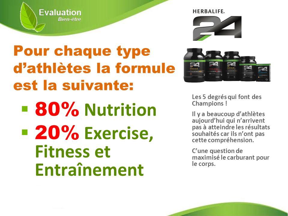 Pour chaque type d'athlètes la formule est la suivante: