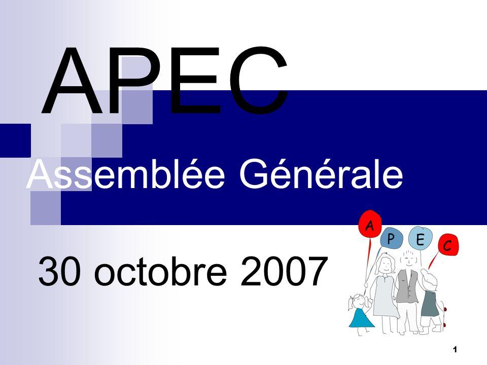Assemblée Générale 30 octobre 2007