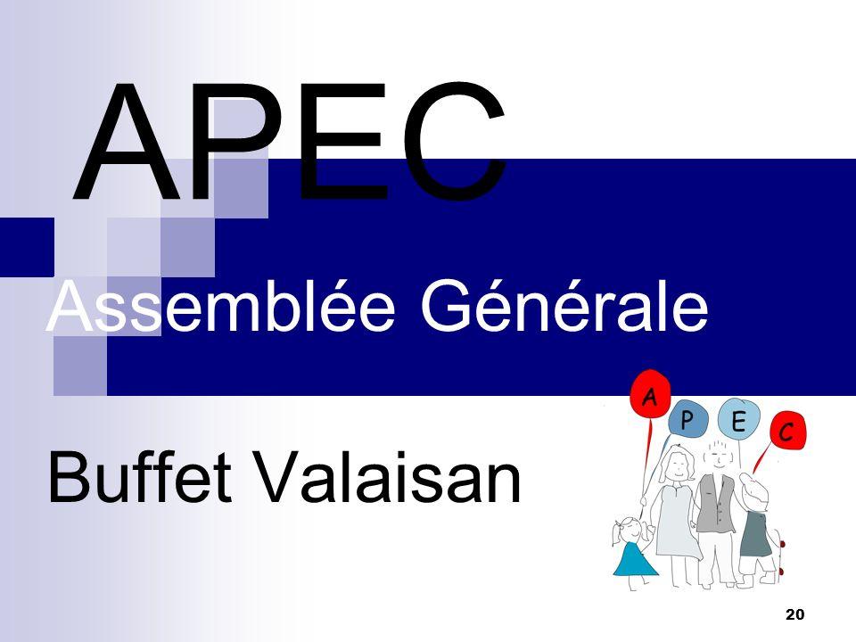 Assemblée Générale Buffet Valaisan
