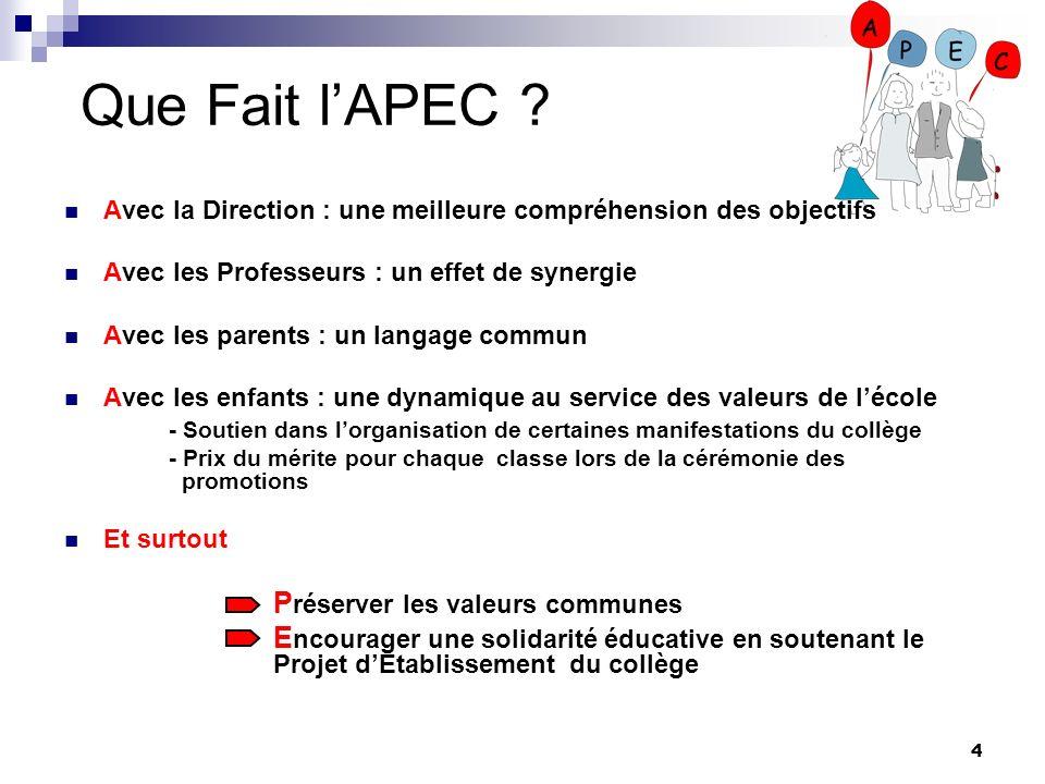 Que Fait l'APEC Préserver les valeurs communes