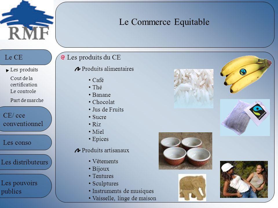 Le Commerce Equitable Le CE Les produits du CE CE/ cce conventionnel