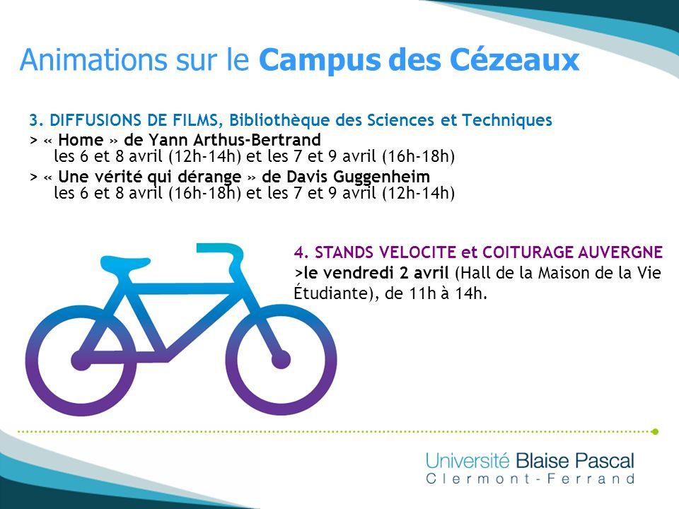 Animations sur le Campus des Cézeaux
