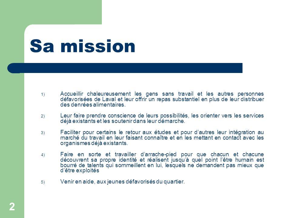 Sa mission