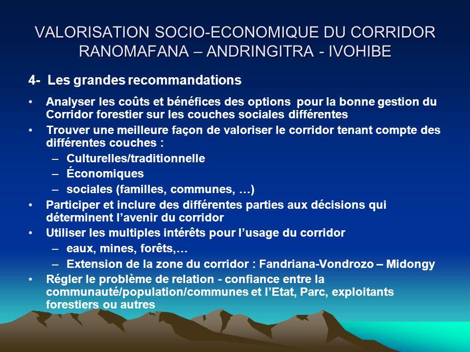VALORISATION SOCIO-ECONOMIQUE DU CORRIDOR RANOMAFANA – ANDRINGITRA - IVOHIBE