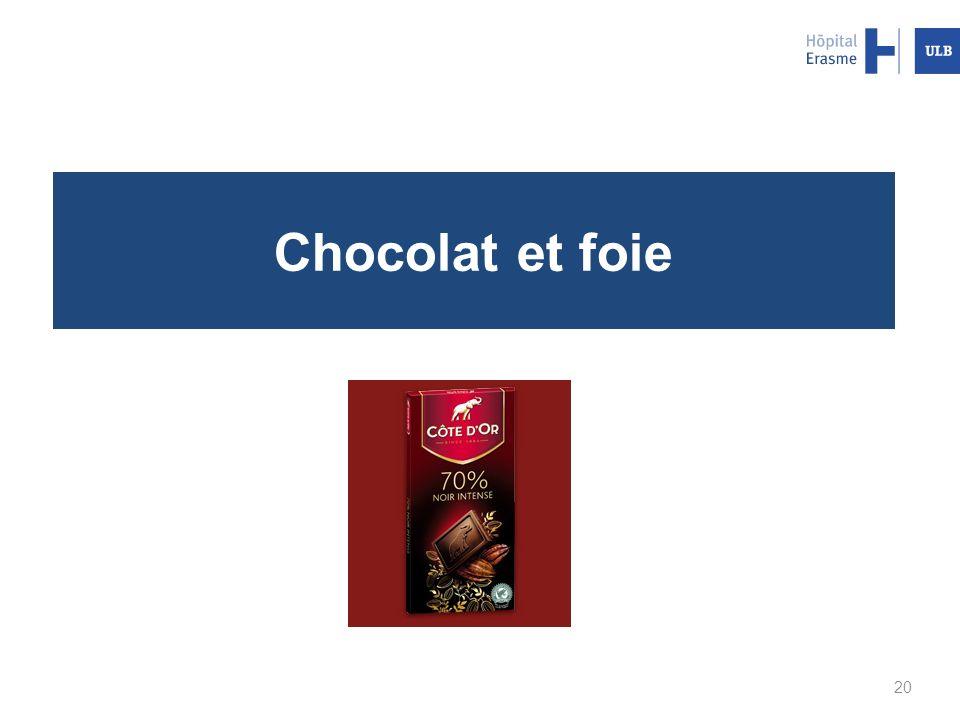 Chocolat et foie