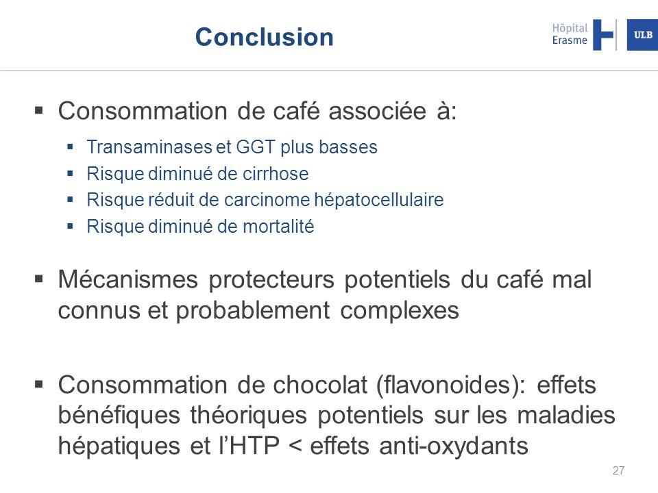 Consommation de café associée à: