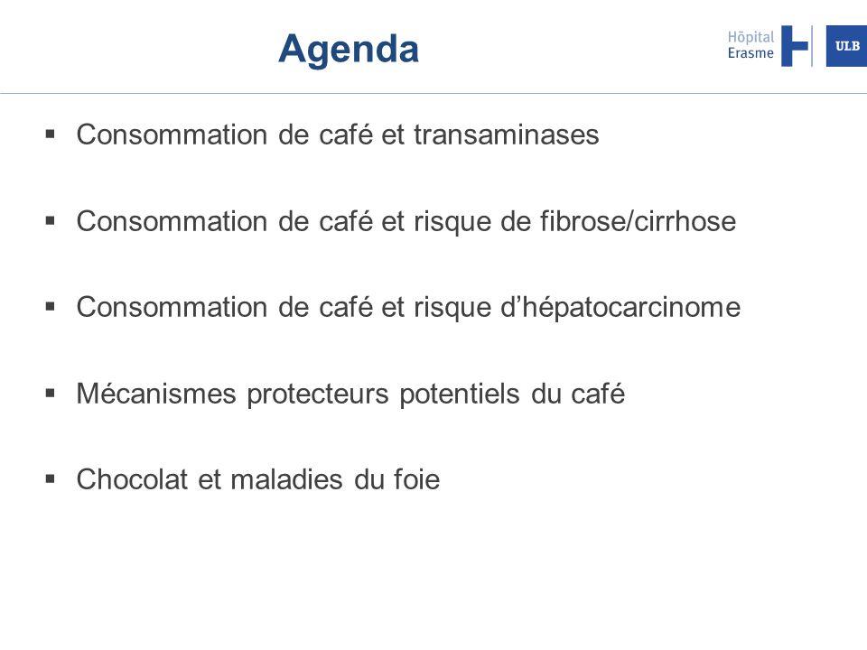 Agenda Consommation de café et transaminases