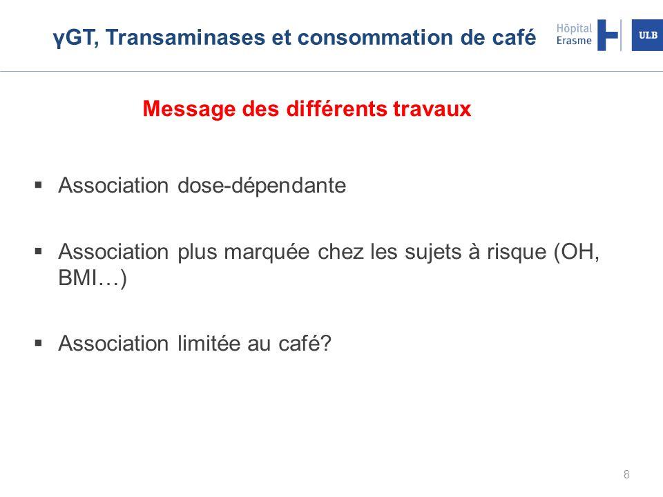 γGT, Transaminases et consommation de café