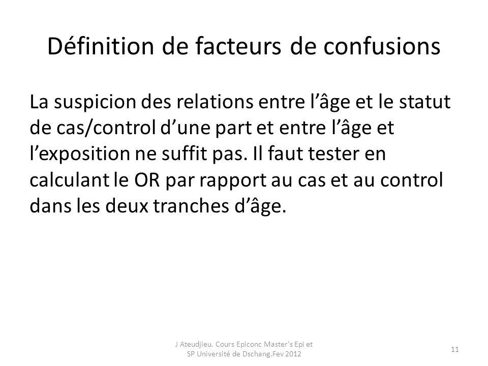 Définition de facteurs de confusions
