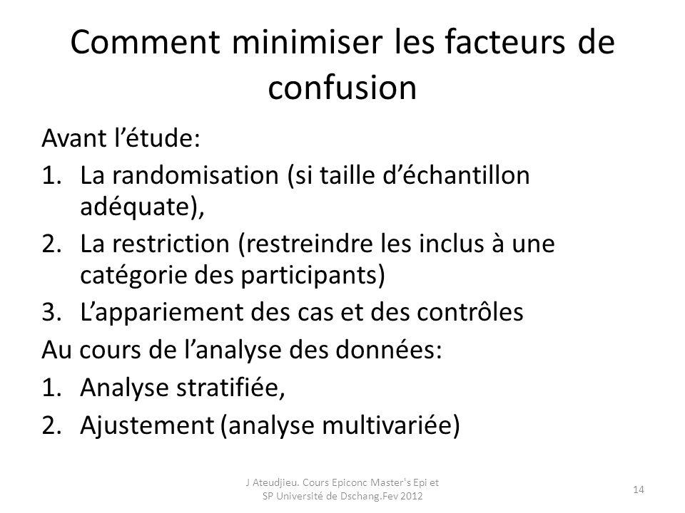 Comment minimiser les facteurs de confusion