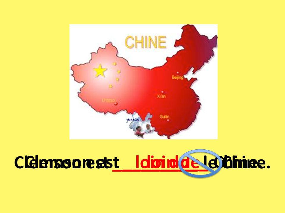 Clemson est _________ le Chine.