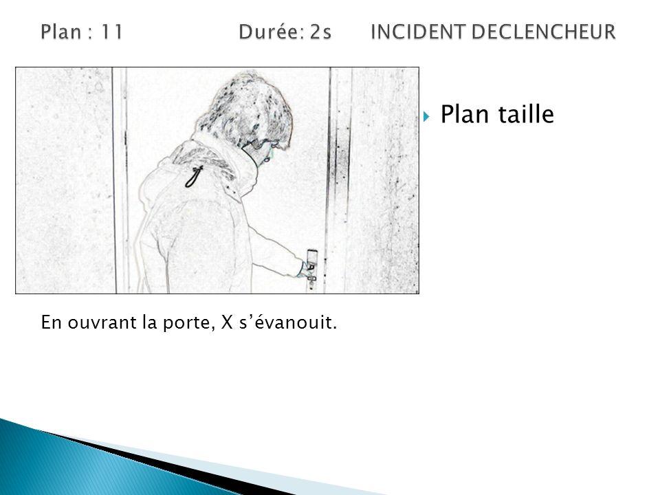 Plan : 11 Durée: 2s INCIDENT DECLENCHEUR