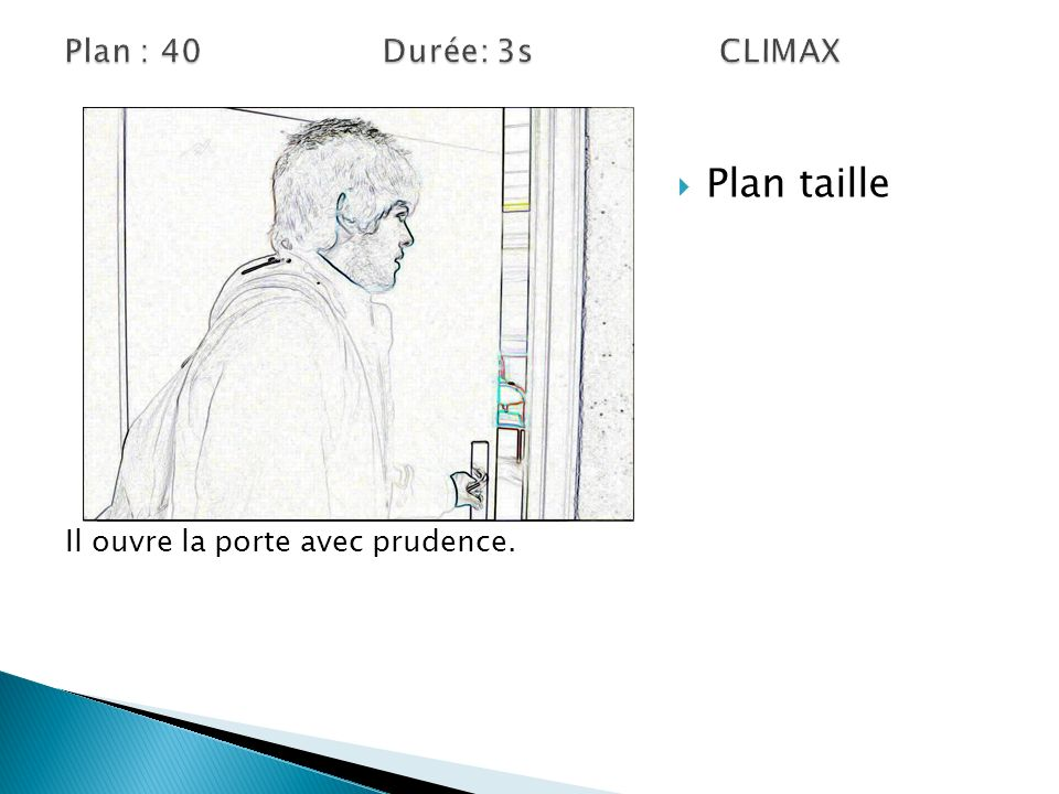 Plan taille Plan : 40 Durée: 3s CLIMAX