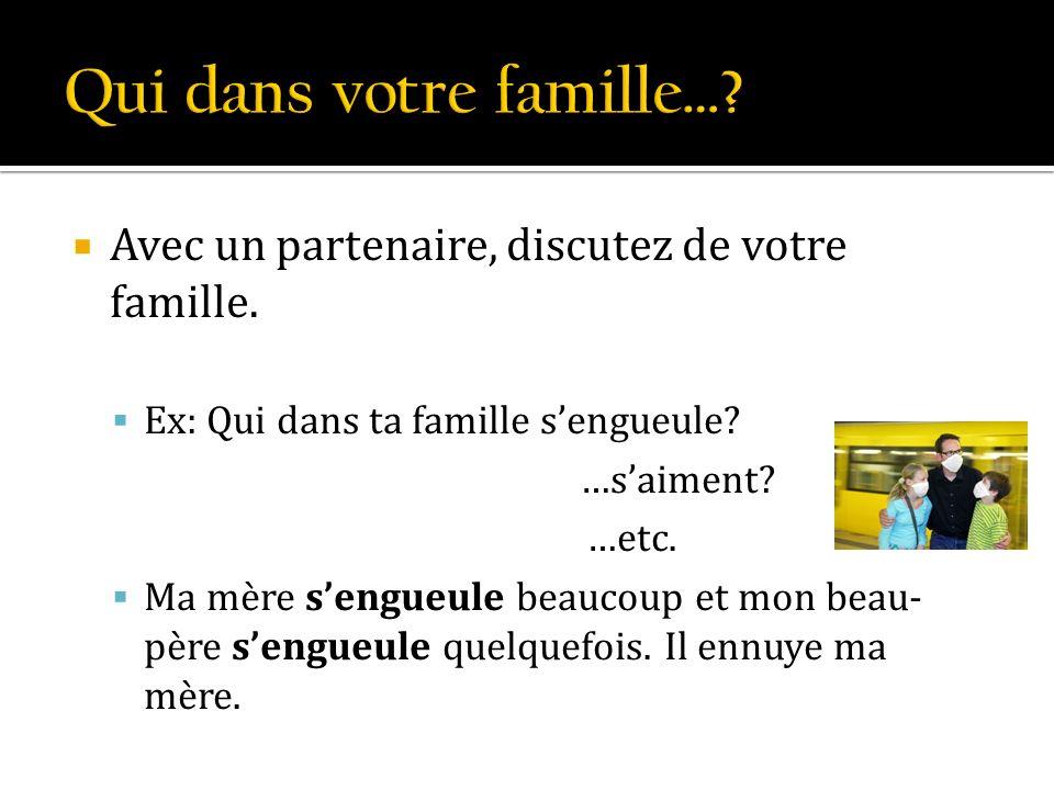 Qui dans votre famille…