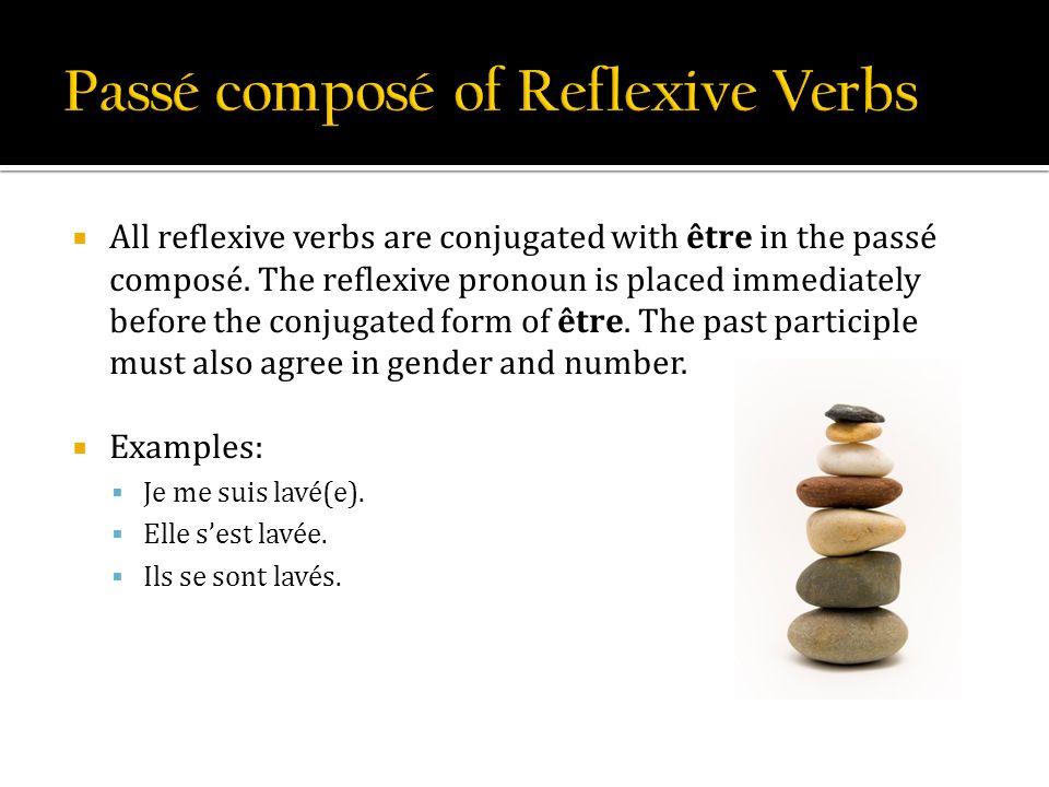 Passé composé of Reflexive Verbs