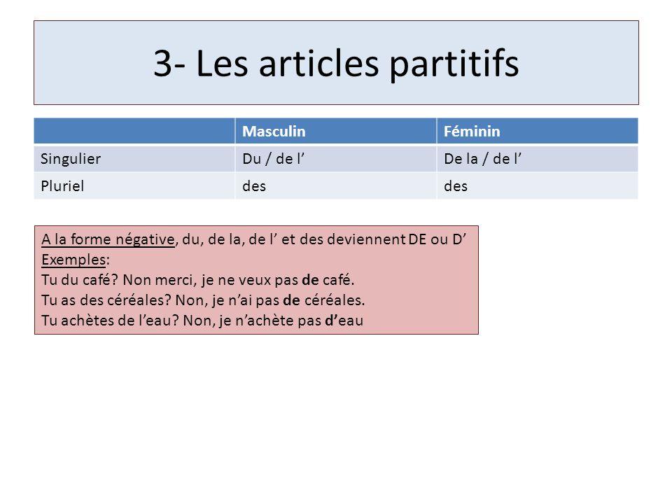 3- Les articles partitifs