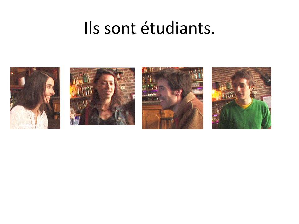 Ils sont étudiants.