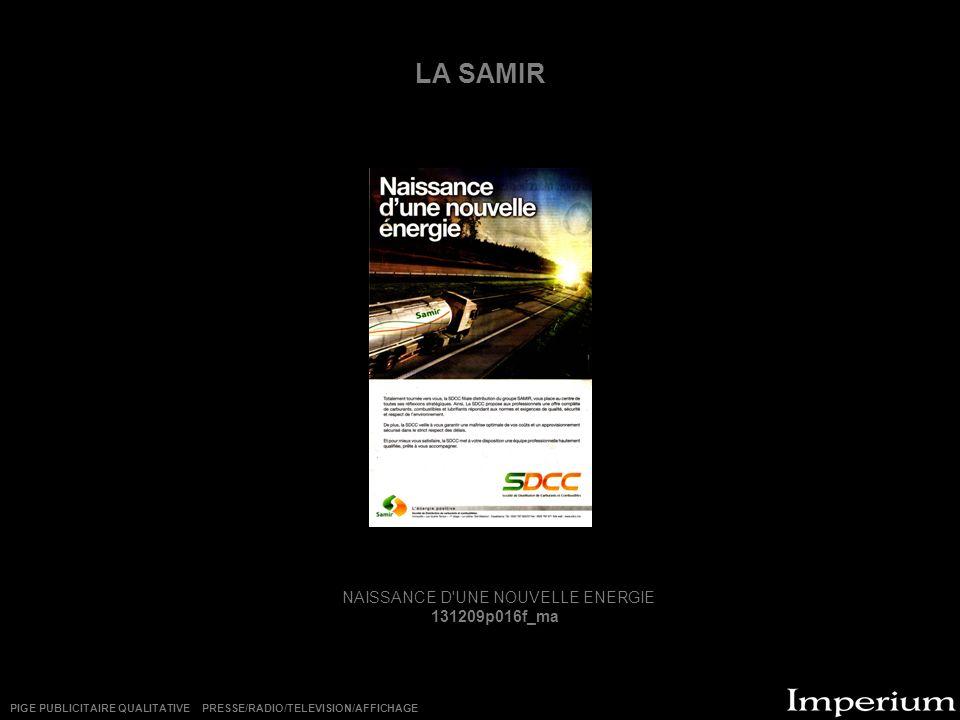 NAISSANCE D UNE NOUVELLE ENERGIE
