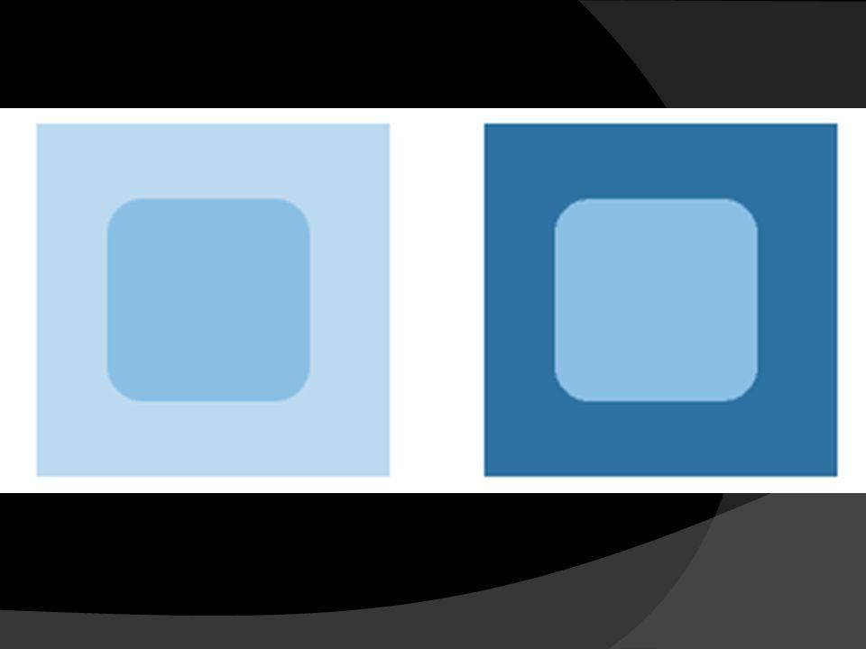 Comme vous avez peut-être deviné, les deux carrés bleus sont de la même couleur. Nous percevons la couleur selon une comparaison à la couleur du fond. Par conséquent, si nous changeons la couleur du fond, cela change notre perception de la couleur du carré.