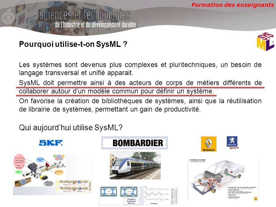 Pourquoi utilise-t-on SysML