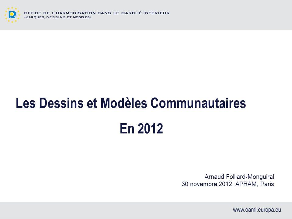 Les Dessins et Modèles Communautaires En 2012