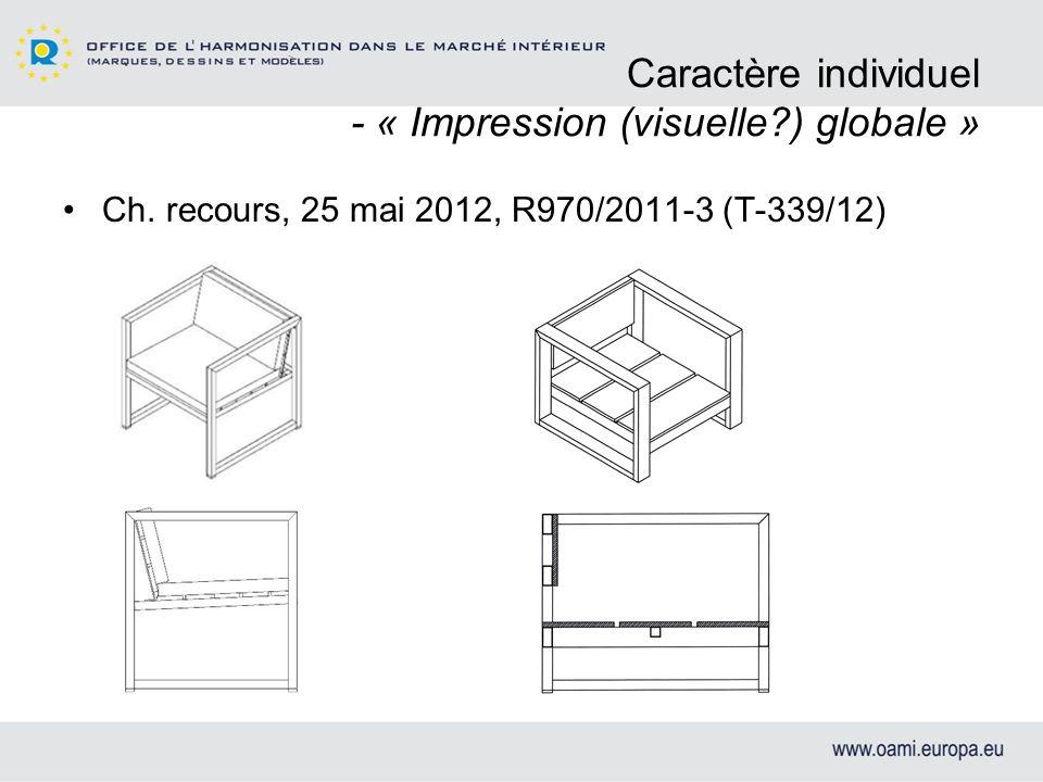 Caractère individuel - « Impression (visuelle ) globale »