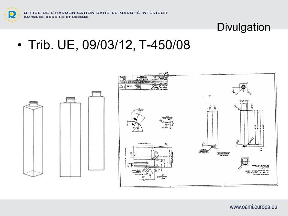 Divulgation Trib. UE, 09/03/12, T-450/08