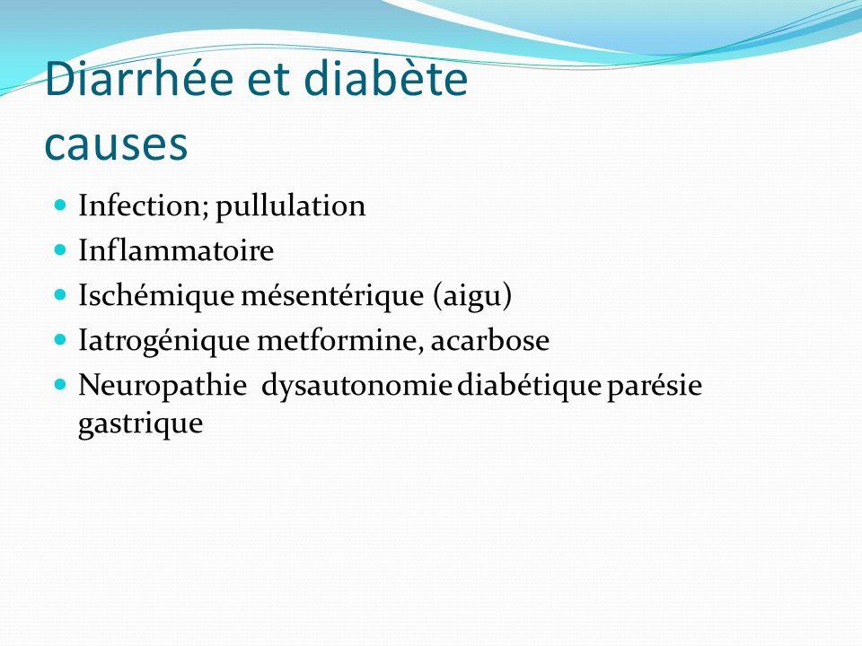 Diarrhée et diabète causes