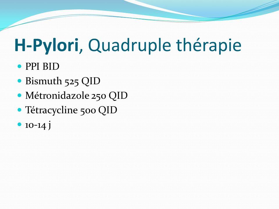 H-Pylori, Quadruple thérapie