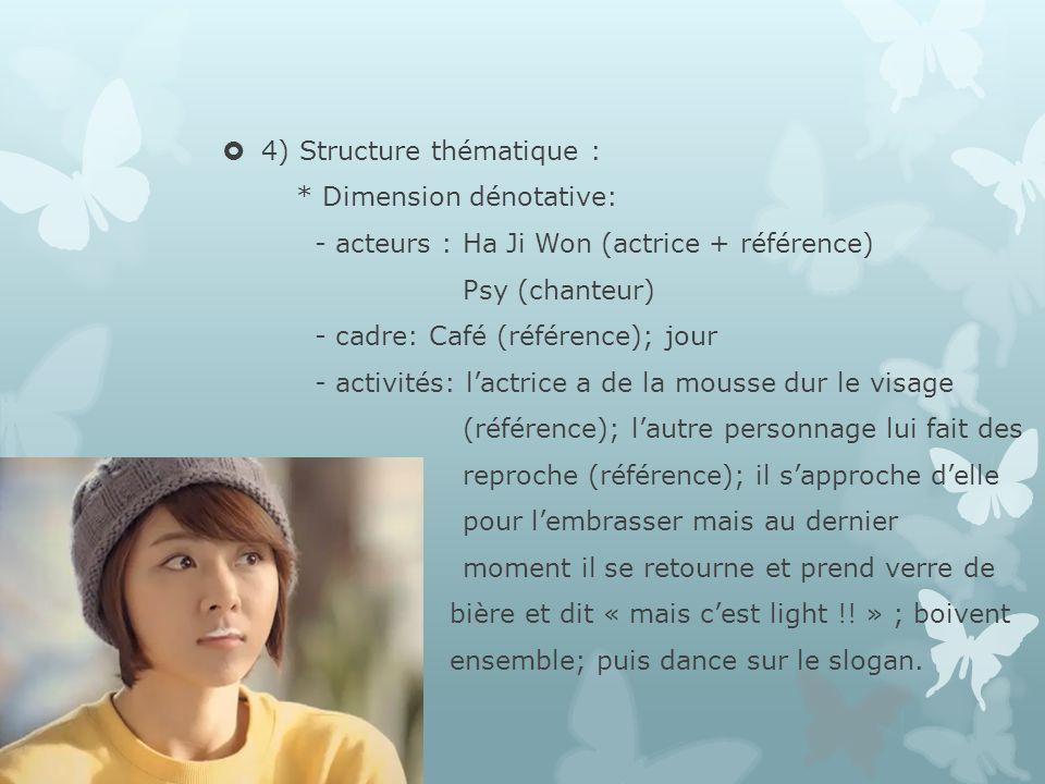 4) Structure thématique :