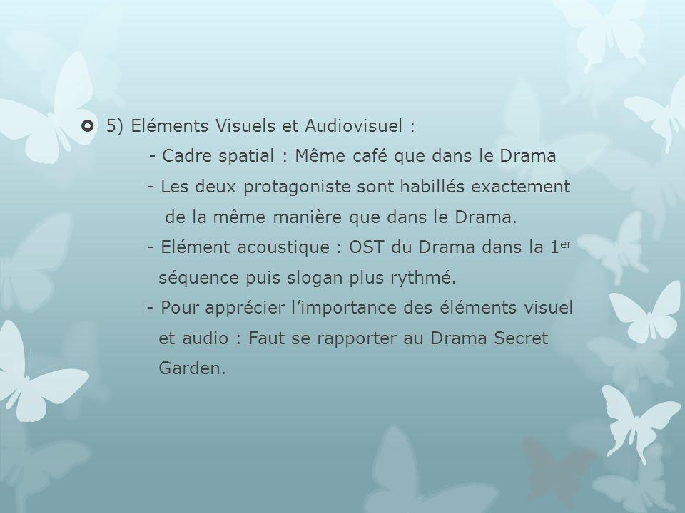 5) Eléments Visuels et Audiovisuel :
