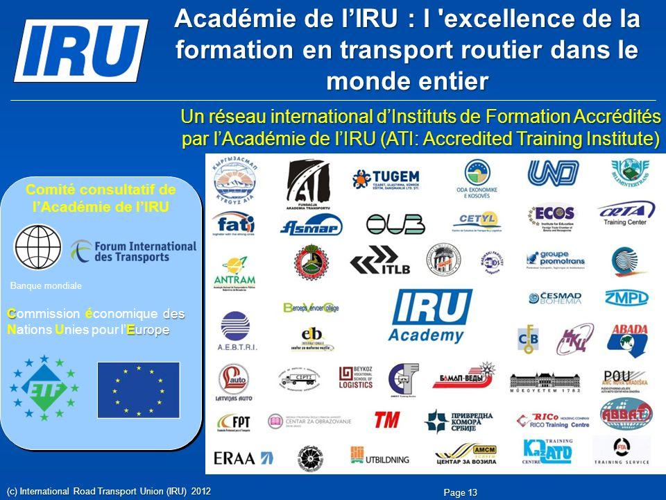 Comité consultatif de l'Académie de l'IRU