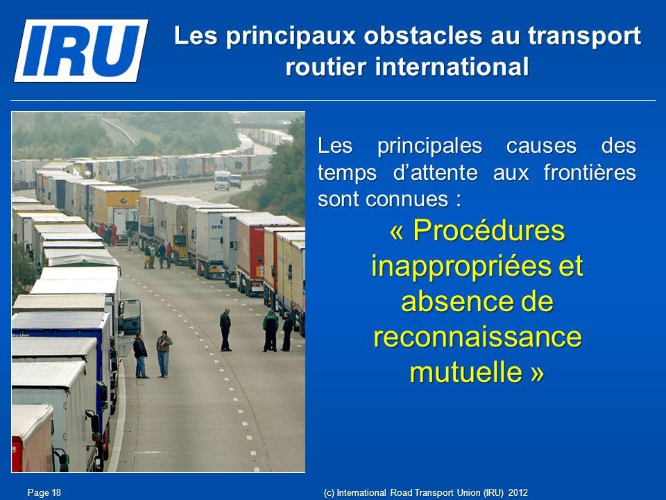 Les principaux obstacles au transport routier international