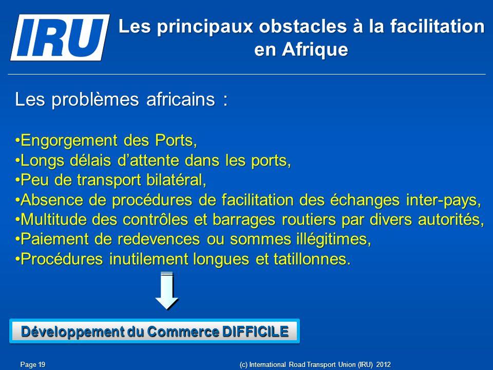 Les principaux obstacles à la facilitation en Afrique