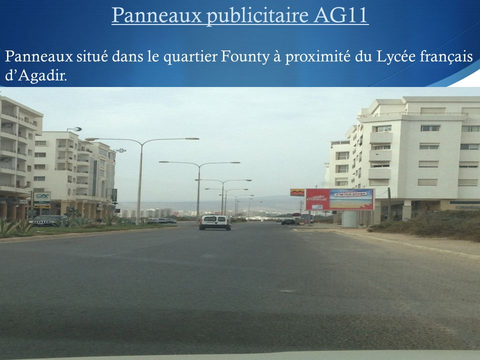 Panneaux publicitaire AG11