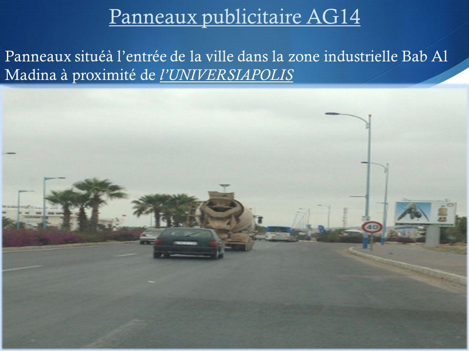 Panneaux publicitaire AG14