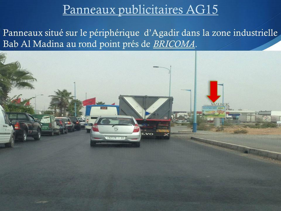 Panneaux publicitaires AG15